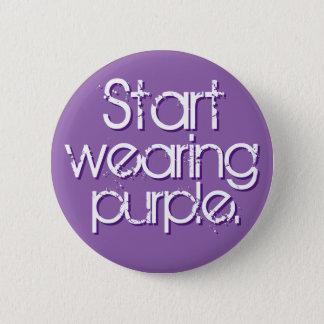 Start Wearing Purple Pinback Button