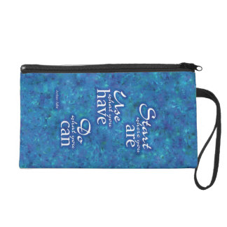 Start Where You Are. Wristlet Clutches