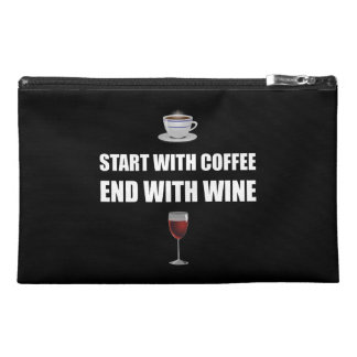 Start With Coffee End Wine Travel Accessory Bag