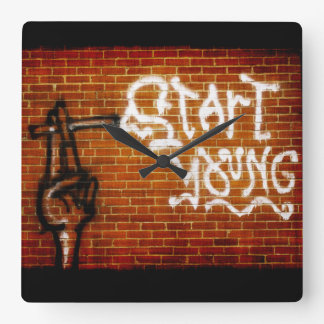 Start Young Square Wall Clock