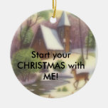 Start your CHRISTMAS with ME in church! Christmas Ornament