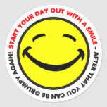Start your day out with a smile Sticker