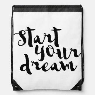 Start your dream drawstring bag