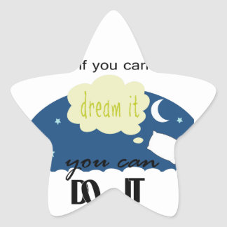 started with a dream sticker