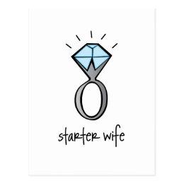 starter wife postcard