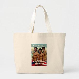 Starting Block Cover' Large Tote Bag