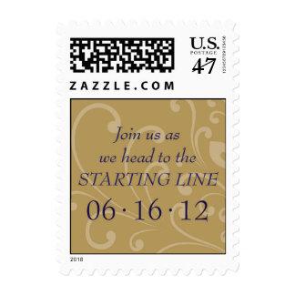 Starting Line Wedding stamp