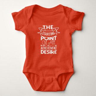 Starting Point of Achievement is Desire Baby Bodysuit