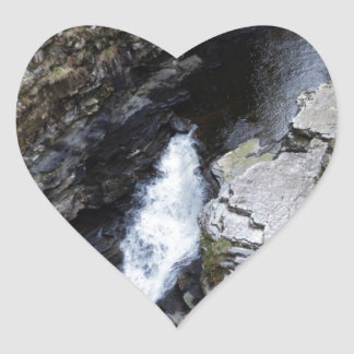 Starting point of falling water at the Corries Heart Sticker