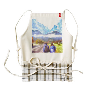 Starting to explore a wonderland zazzle HEART apron