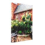 STARTING UNDER $100 - Outdoor Cafe With Hydrangea Canvas Print