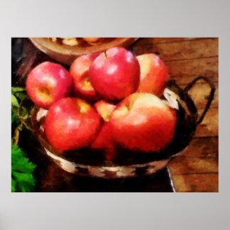 STARTING UNDER $20 - Basket of Apples in Kitchen Poster