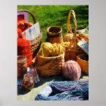 STARTING UNDER $20 -Baskets of Yarn at Flea Market Print