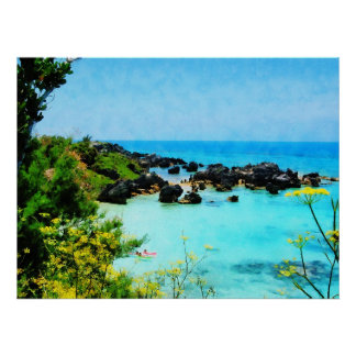 STARTING UNDER $20 - Beach at St. George Bermuda Poster