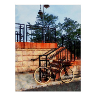 STARTING UNDER $20 - Bicycle by Train Station Poster