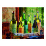 STARTING UNDER $20 - Bottles of Wine Near Window Print
