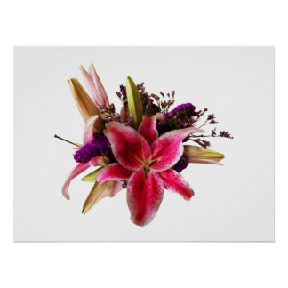 STARTING UNDER $20 -Bouquet With Stargazer Liliesc Poster