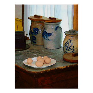 STARTING UNDER $20 - Brown Eggs and Ginger Jars Poster