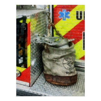 STARTING UNDER $20 - Bucket on Fire Truck Poster