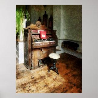 STARTING UNDER $20 -Church Organ With Swivel Stool Poster