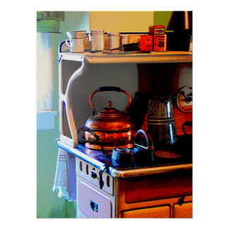 STARTING UNDER $20 - Copper Tea Kettle on Stove Poster