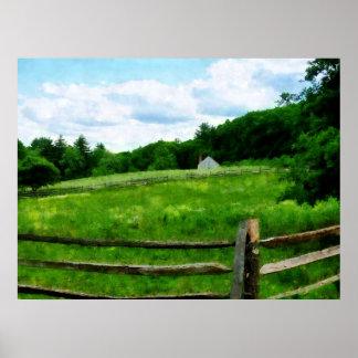 STARTING UNDER $20 - Field Near Weathered Barn Poster