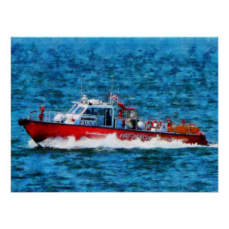 STARTING UNDER $20 - Fire Rescue Boat Poster