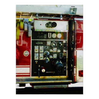 STARTING UNDER $20 - Gauges on Fire Truck Poster