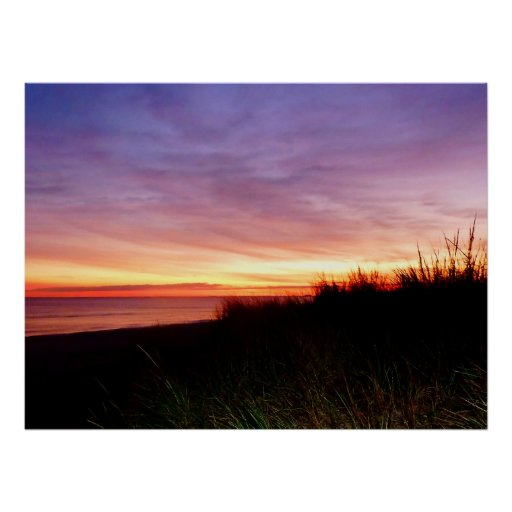 STARTING UNDER $20 - Lonely Beach at Sunrise Poster