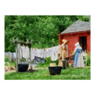 STARTING UNDER $20 -Neighbors Gossiping on Washday Poster