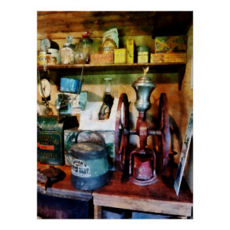STARTING UNDER $20 - Old Fashioned Coffee Grinder Poster