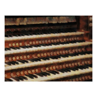 STARTING UNDER $20 - Organ Keyboard Poster
