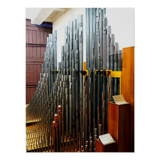 STARTING UNDER $20 - Pipe Organ Pipes Print