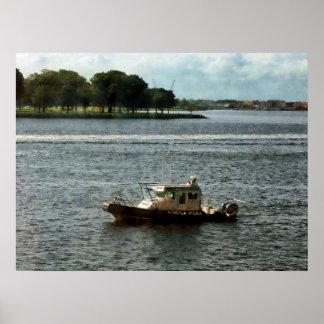 STARTING UNDER $20 - Police Boat Norfolk VA Poster