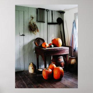 STARTING UNDER $20 - Pumpkins in Kitchen Poster