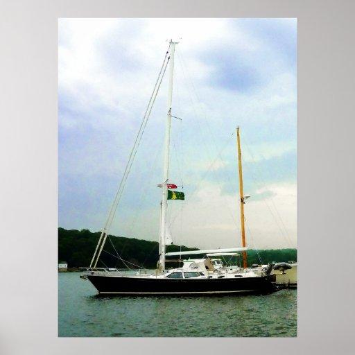 STARTING UNDER $20 - Sailboat at Anchor Poster