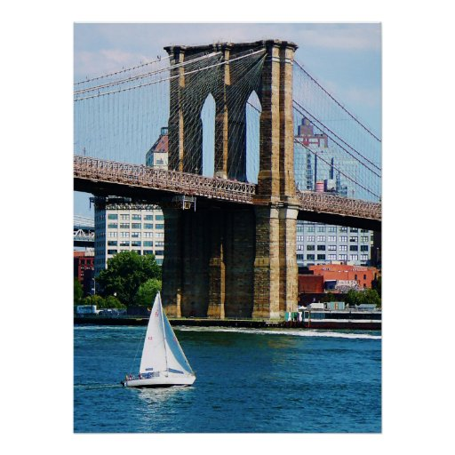 STARTING UNDER $20 Sailboat by the Brooklyn Bridge Poster