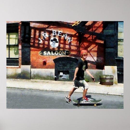 STARTING UNDER $20 - Skateboarder in Bristol RI Poster