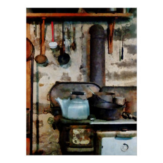STARTING UNDER $20 - Stove With Tea Kettle Poster