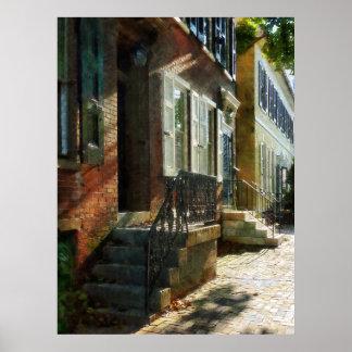 STARTING UNDER $20 - Street in New Castle Delaware Poster
