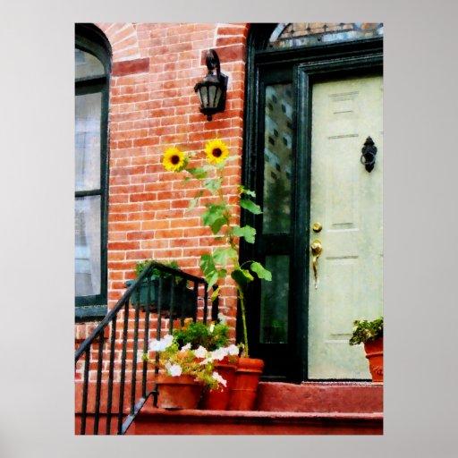 STARTING UNDER $20 - Sunflowers on Stoop Print