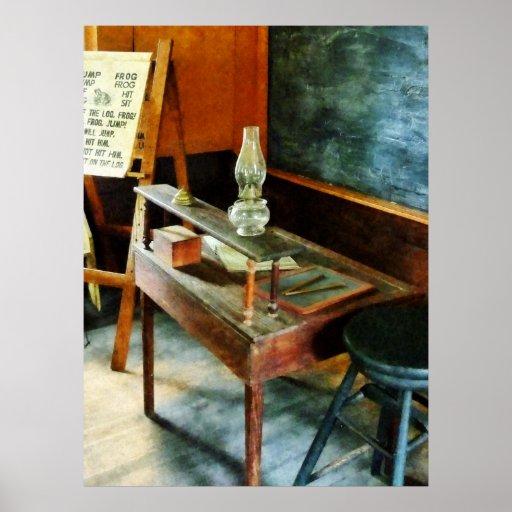 STARTING UNDER $20 Teacher's Desk, Hurricane Lamp Posters