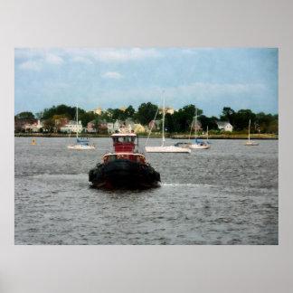 STARTING UNDER $20 - Tugboat Bow Norfolk VA Poster
