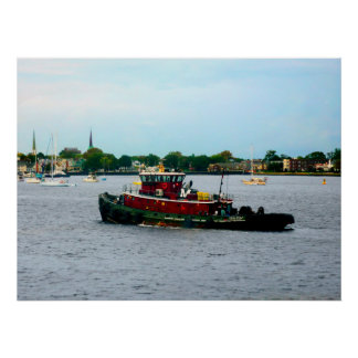 STARTING UNDER $20 - Tugboat Norfolk Virginia Poster