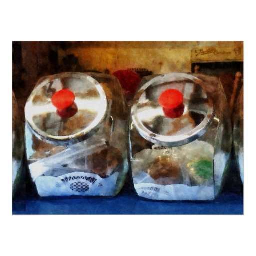 STARTING UNDER $20 - Two Glass Cookie Jars Poster