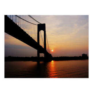 STARTING UNDER $20 - Verrazano Bridge at Dawn Poster