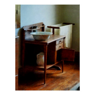 STARTING UNDER $20 - Wash Basin and Towel Poster