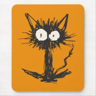 Startle Cat Orange Mouse Pad