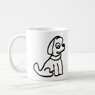 Startled dog coffee mug