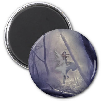 Startled Fairy 2 Inch Round Magnet